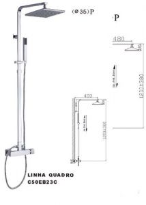 Aqua Quadro: Vierkante regendouche set.