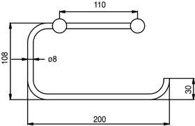 design glanzend chroom handdoekrekje