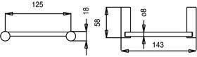 design glanzend chroom wcrol houder