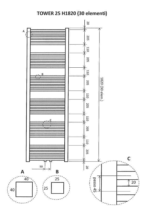 design radiator douche wit