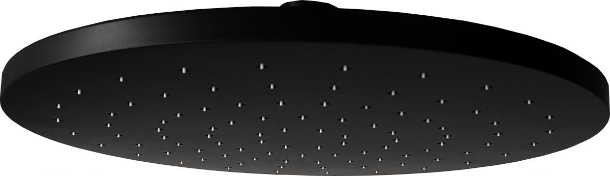 mat zwarte regendouche 20cm