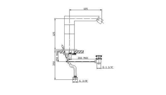 quadrato rvs line inbouw 4weg mengkraan