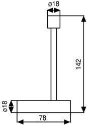 reserve wcrol houder in glanzend chroom