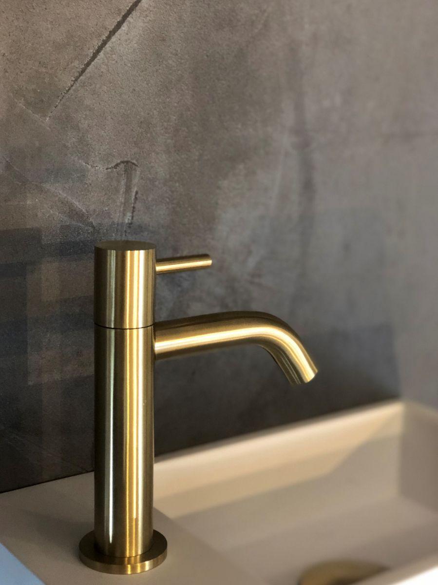 rvs fonteinkraan goud