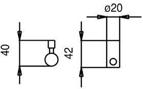 rvs quadrato line inbouw 3weg systeem