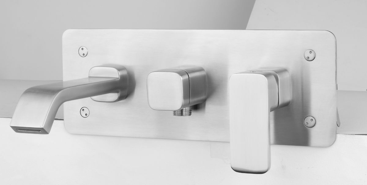 rvs serie brook 88 inbouw badmengkraan incl rvs handdouche
