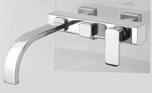 RVS Serie Brook 88: Inbouw badmengkraan inclusief RVS handdouche