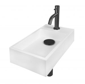Solid Surface mat witte fonteinset