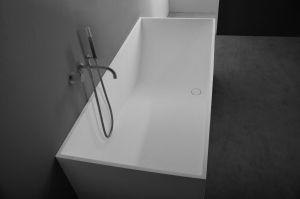 Solid surface vrijstaand rechthoek bad