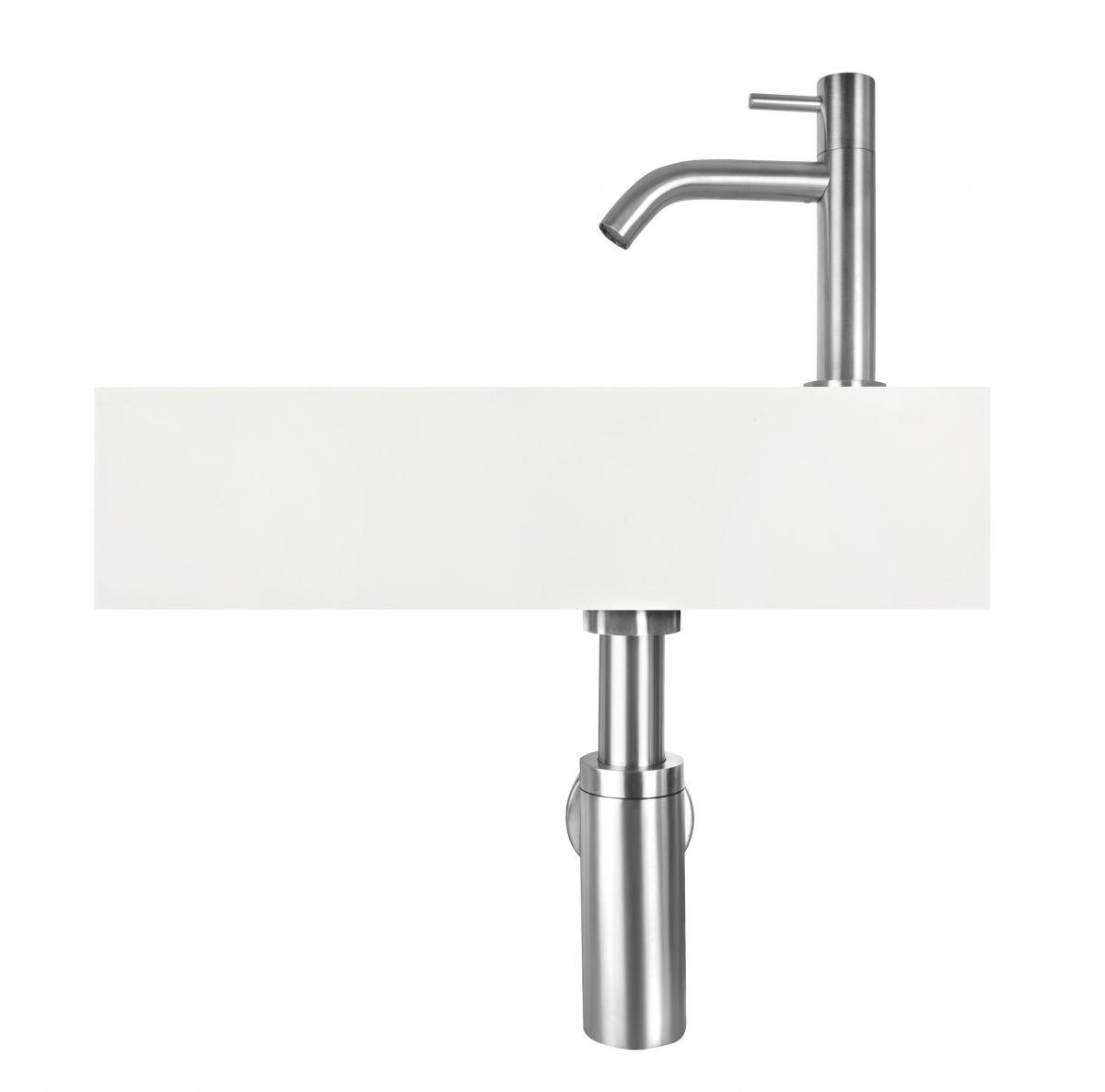 solid surface zilveren fonteinset