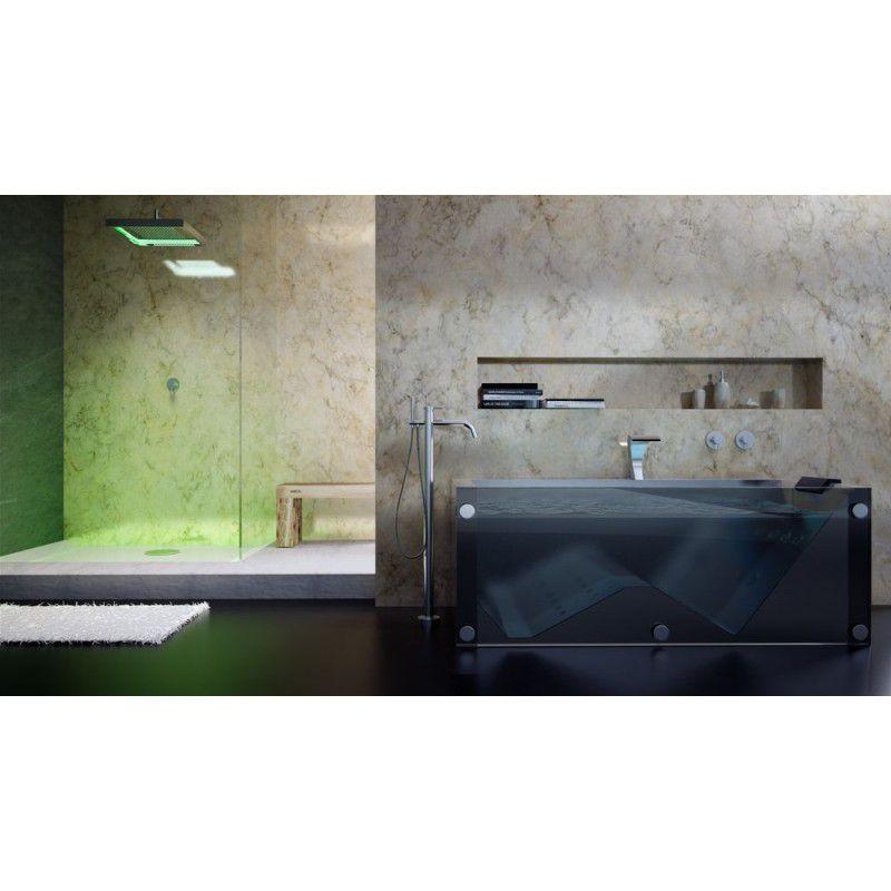 vrijstaande badkraan inc handdouche en doucheslang in de kleur zwart