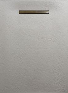Zacht Douchevloer Beton look - Lineair Drain