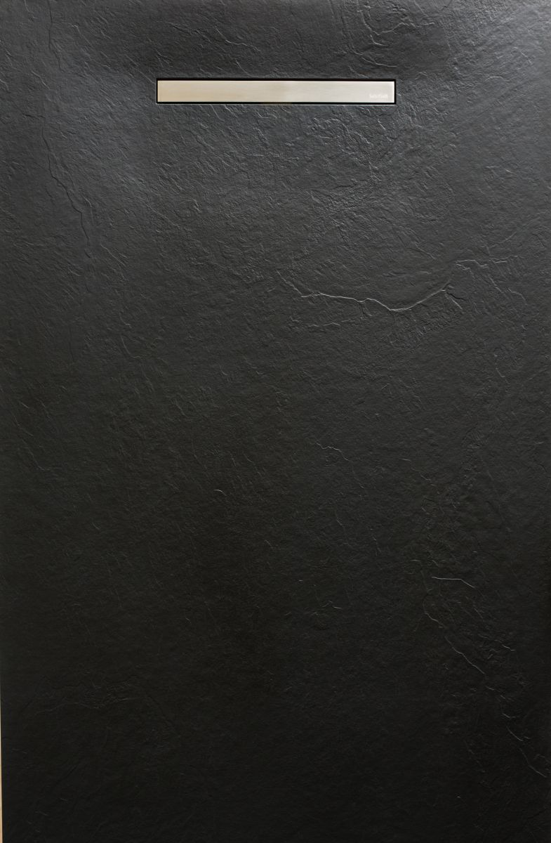zachte douchevloer zwart lineair drain