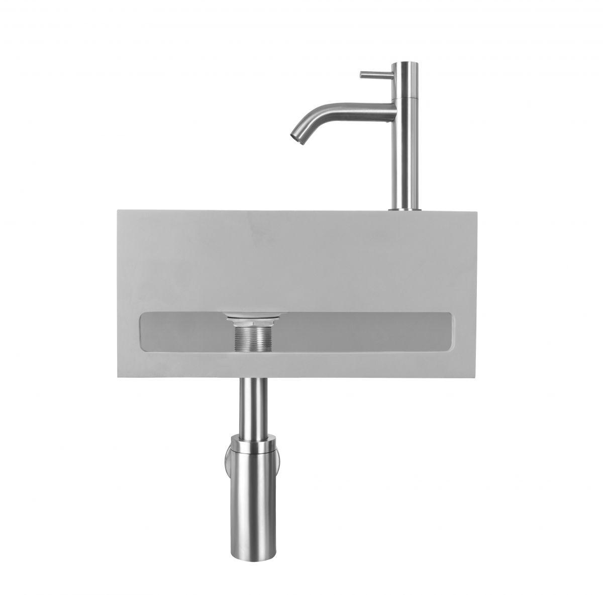 zilveren fonteinset beton