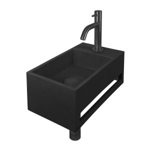 Zwarte Solid Surface met Zwarte fonteinset