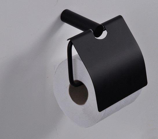 Wc Rol Houder Zwart.Zwarte Wcrolhouder